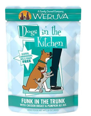 Weruva Dogs in the Kitchen - Funk in the Trunk - Chicken and Pumpkin Dog Food Pouch 2.8 oz.