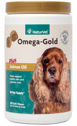 NaturVet Omega Gold Soft Chews for Dogs & Cats 180 ct. Jar