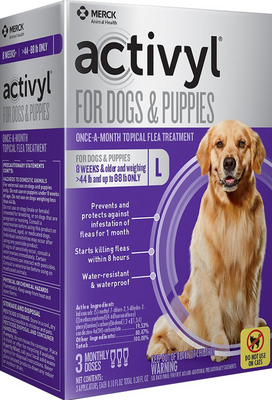 Activyl Flea & Tick Treatment for Large Breed (45-88 lb.) Dogs and Puppies - 3 pack