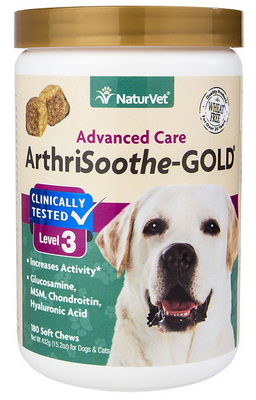 NaturVet Arthrisoothe Gold Soft Chews for Dogs and Cats 180 ct.