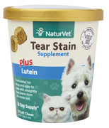 NaturVet Tear Stain Plus Lutein Soft Chews for Cats and Dogs 70 ct.