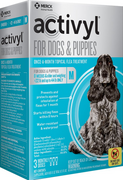 Activyl Flea & Tick Treatment for Medium Breed (23-44 lb.) Dogs and Puppies - 3 pack