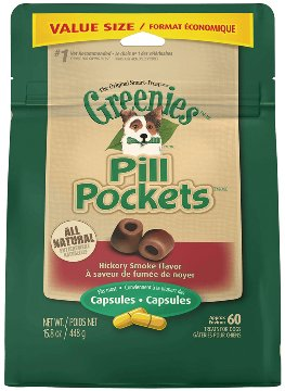 Greenies Dog Capsule Pill Pockets - Smokey 7.9 oz.