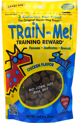Crazy Dog Train-Me Chicken Treats 4 oz.