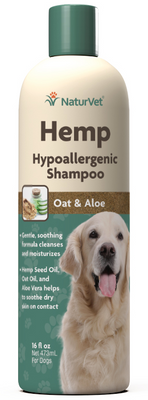 NaturVet Hemp Hypoallergenic Shampoo for Dogs 16 oz.