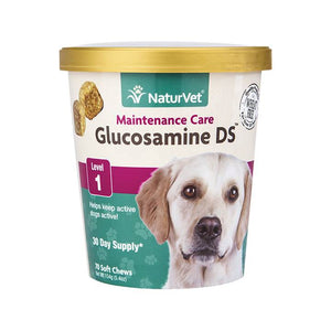 NaturVet Glucosamine Level 1 Soft Chews for Dogs 70 ct.