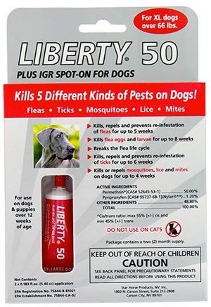 Liberty 50 Spot On for Extra Large Dog Breeds 2 Month