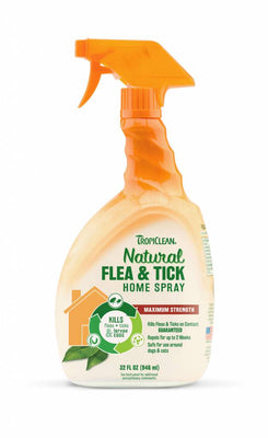 Tropiclean Natural Flea and Tick Spray for Home 32 oz.