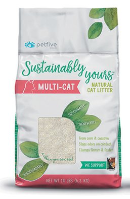 Sustainably Yours - Natural Multi Cat Litter 13 lbs.