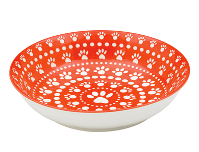 Ore Speckle and Spot Shallow Bowl in Rusty Red