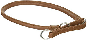 Dogline 22 in. Leather Martingale Collar