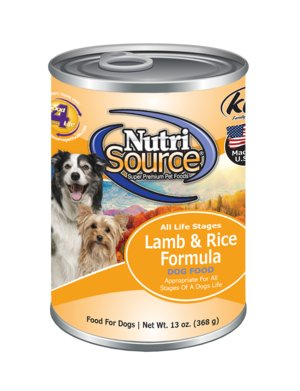 Nutri Source Lamb and Rice Canned Dog Food 13 oz.