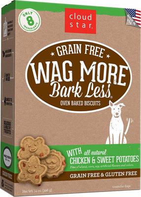 WMBL Grain Free Oven Baked Dog Treats w/ Chicken and Sweet Potato 14 oz.