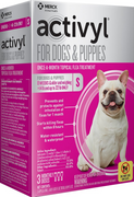 Activyl Flea & Tick Treatment for Small Breed (15-22 lb.) Dogs and Puppies  - 3 pack