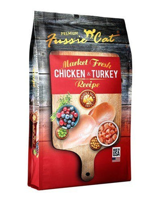 Fussie Cat Market Fresh Dry Grain-Free Chicken and Turkey 10 lb. Cat Food