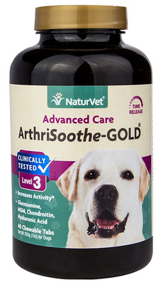 NaturVet Arthrisoothe Gold Time Released Tablets for Dogs 90 ct.