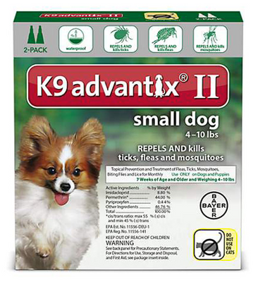 K9 Advantix II for Small Dog Breeds 4 pack - Green