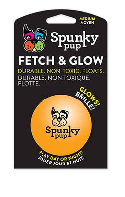 Spunky Pup Medium Fetch and Glow Ball