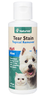 NaturVet Topical Tear Stain Remover for Dogs and Cats 4 oz.