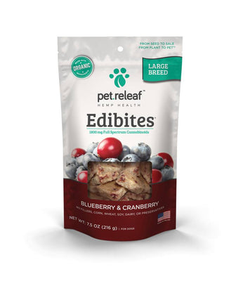 Pet Releaf Edibites Large Breed Blueberry and Cranberry 30 ct.