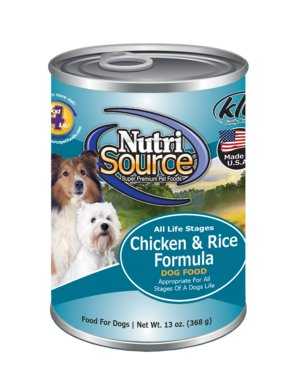 Nutri Source Chicken and Rice Canned Dog Food 13 oz.