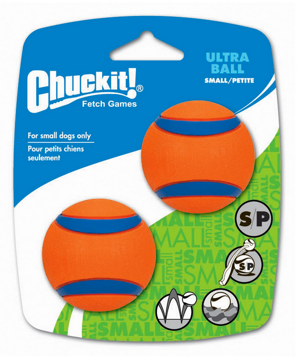 ChuckIt Small Ultra Rubber Ball - 2 pack