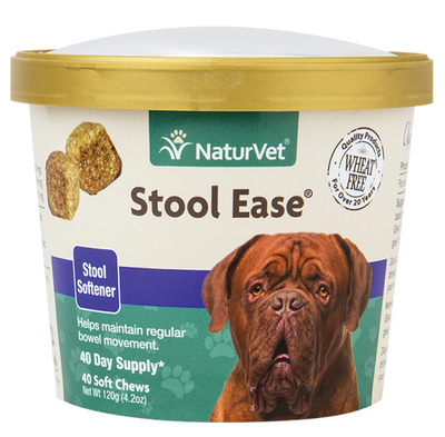 NaturVet Stool Ease Soft Chews for Dogs 40 ct.
