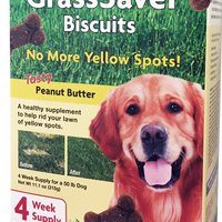 NaturVet Grass Saver Peanut Butter Biscuits for Dogs 11 oz.