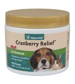 NaturVet Cranberry Relief Formula Powder for Dogs and Cats 50g.