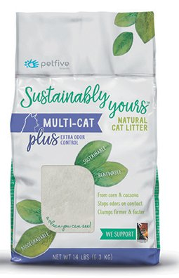 Sustainably Yours - Natural Multi Cat Litter - Plus 26 lb.