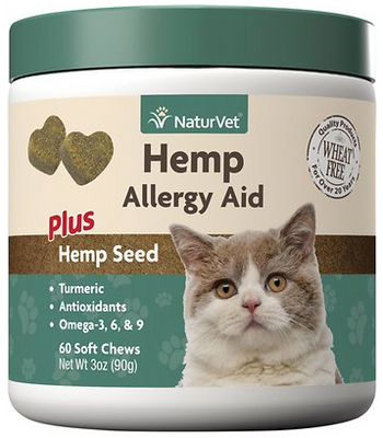 NaturVet Hemp Allergy Aid Soft Chews for Cats 60 ct.