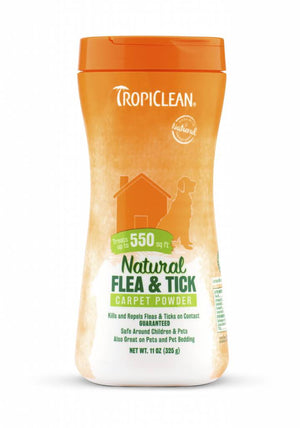 Tropiclean Natural Flea and Tick Carpet/Pet Powder 11 oz.