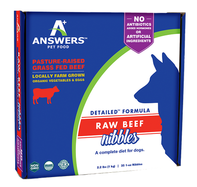 Answers Detailed Frozen Beef Dog Nibbles 2.2 lb.