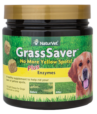 NaturVet Grass Saver Soft Chews for Dogs 120 ct. Jar