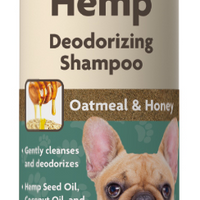 NaturVet Hemp Deoderizing Shampoo Oatmeal and Honey for Dogs 16 oz.