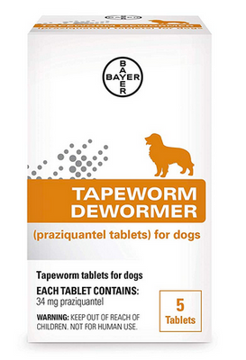 Bayer Tapeworm Dog Dewormer (4 wks and Older) 5 ct.