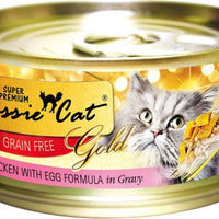 Fussie Cat Super Premium Grain Free Chicken with Egg Canned Cat Food 2.8 oz.