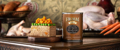 Fromm Gold Grain Free Turkey Duck and Sweet Potato Pate Canned Dog Food 12 oz.