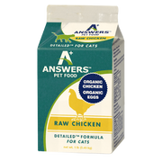 Answers Detailed Raw Chicken Cat Formula for Cats 1 lb.