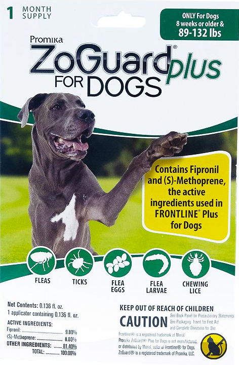 Zoguard Plus for Dogs 89-132 lb. - 1 pack