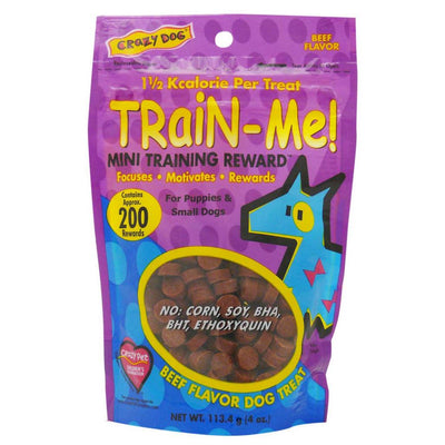 Crazy Dog Train-Me Beef Treats 4 oz.