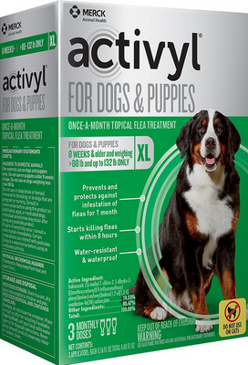 Activyl Flea & Tick Treatment for Extra Large Breed (89-132 lb) Dogs and Puppies - 3 pack