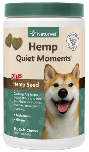 NaturVet Hemp Quiet Moments Soft Chews for Dogs 180 ct.