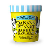 Bear and Rat Banana and Peanut Butter Dog Frozen Yogurt - Sold Each