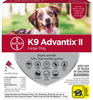 K9 Advantix II for Large Dog Breeds 2 Pack - Red