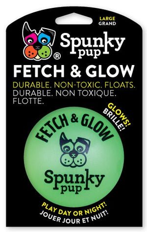 Spunky Pup Large Fetch and Glow Ball