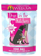 Weruva Dogs in the Kitchen - Fowl Ball - Chicken and Turkey Dog Food Pouch 2.8 oz.