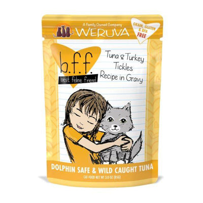 Weruva BFF Tickles - Tuna and Turkey Cat Food Pouch 3 oz.
