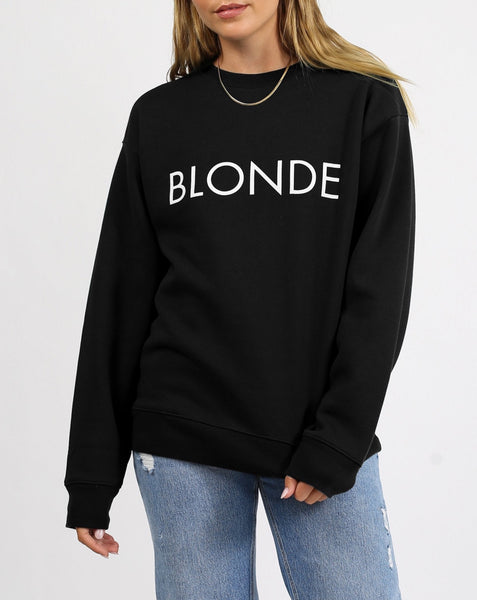 Blonde Classic Crew Neck In Black
