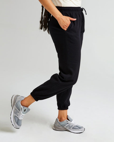 Recycled Fleece Sweatpant In Black
